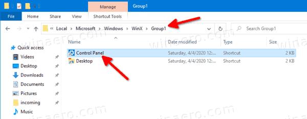 Re Arrange Win+X Entries In Windows 10