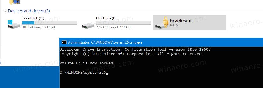 Windows 10 BitLocker Drive Locked