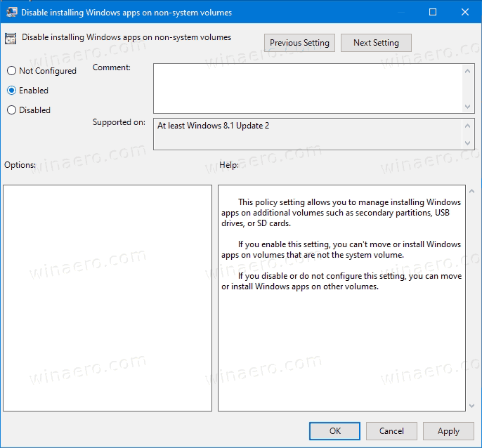 Windows 10 Disable Changing Windows Apps Save Location 2