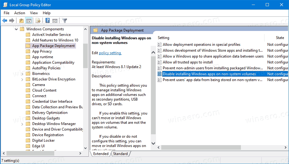 Windows 10 Disable Changing Windows Apps Save Location