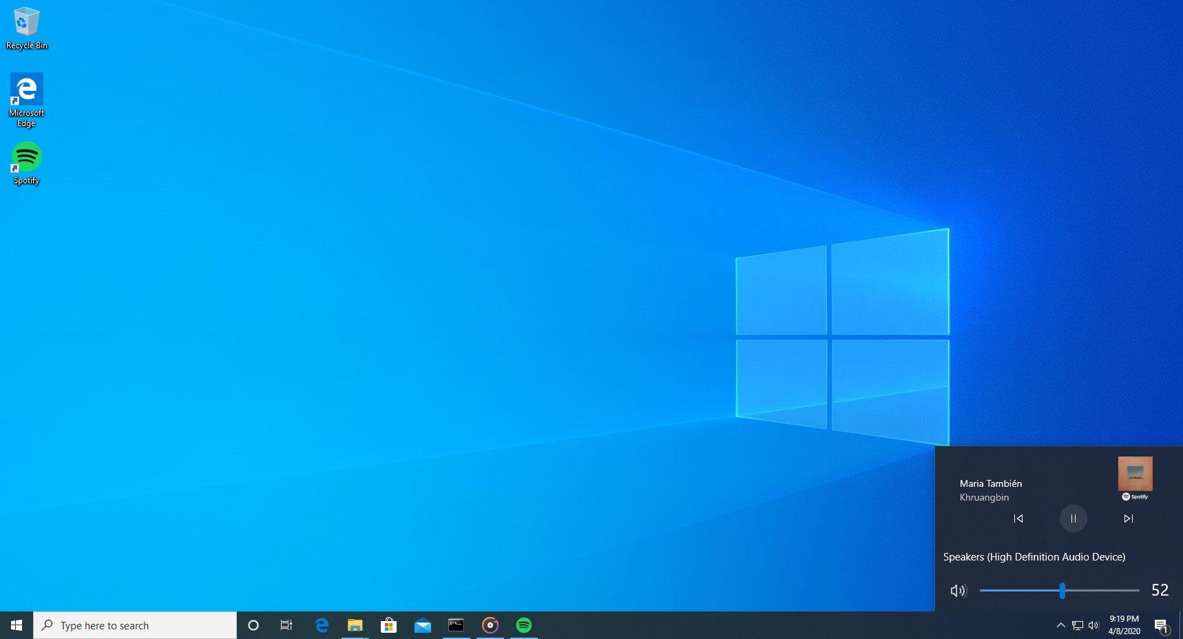 Windows 10 Media Controls For Volume Slider Flyout