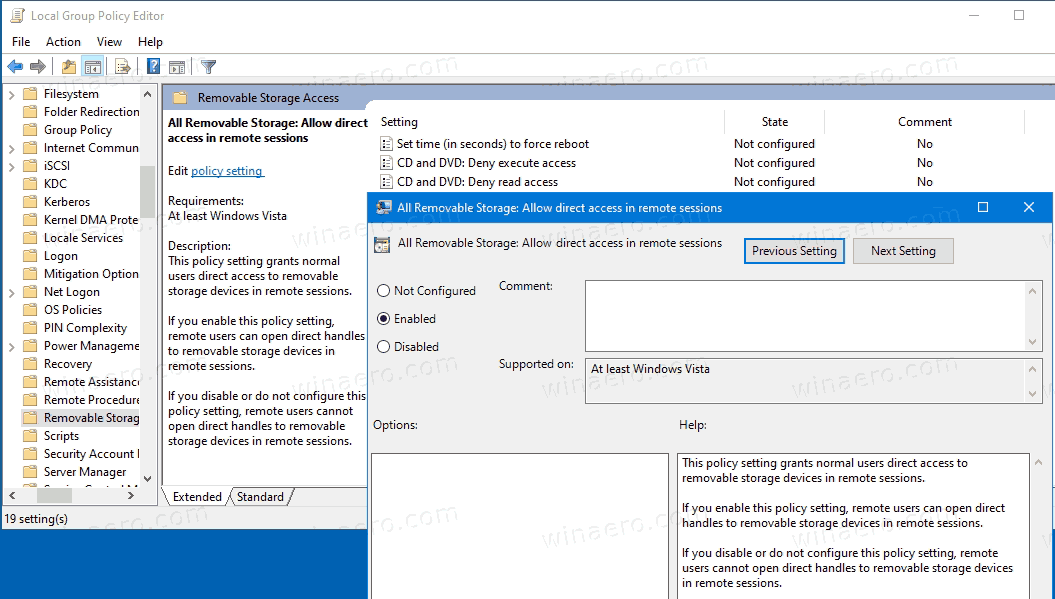 BitLocker Allow Direct Access In Remote Sessions