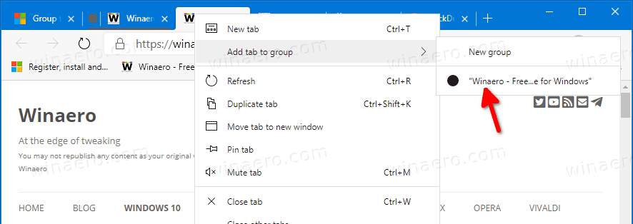 Edge Add Tab To Existing Group