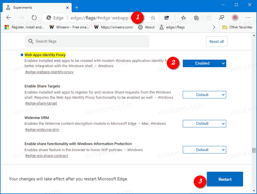 Enable PWA Intergration With Windows Shell In Edge