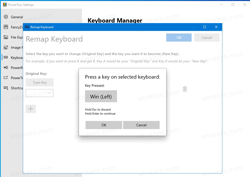 PowerToys Keyboard Manager