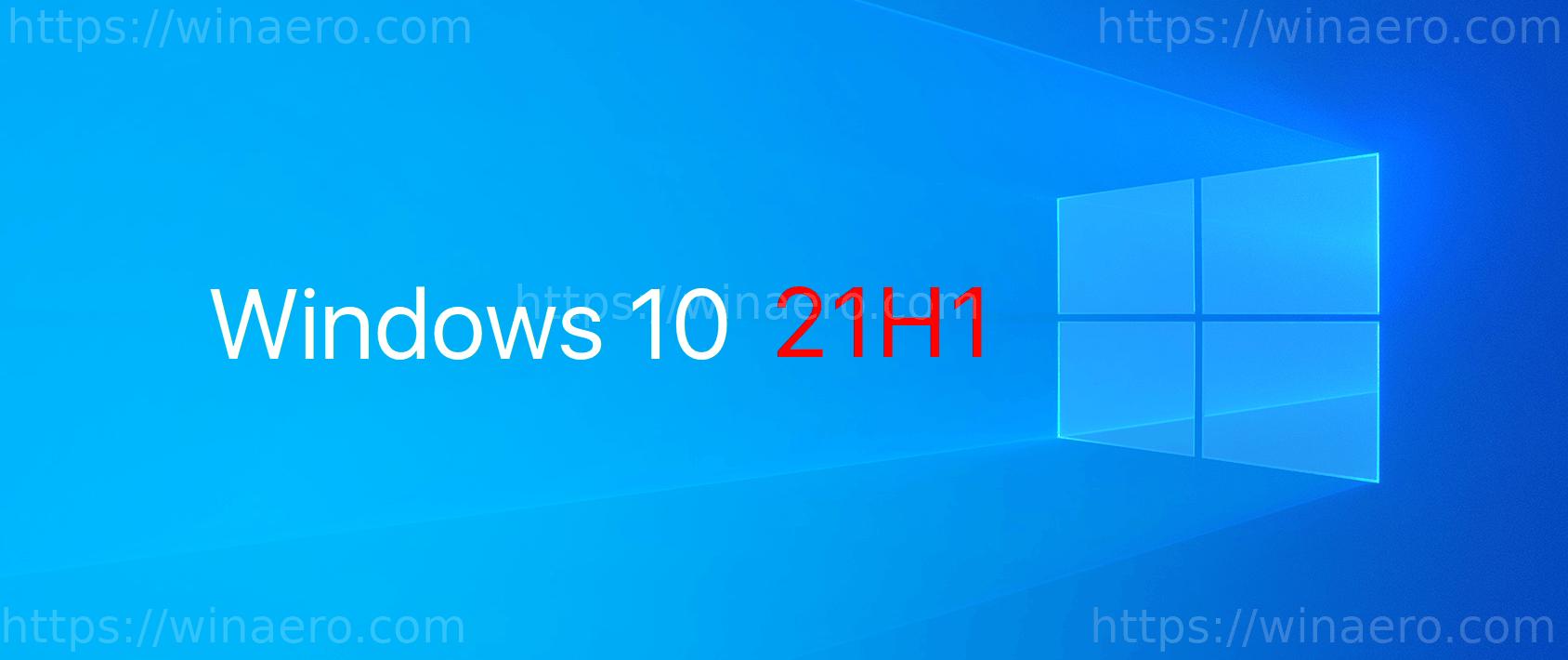 Windows 10 21H1 Banner