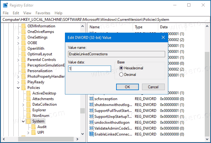 Windows 10 Enable Network Drives From Elevated Apps