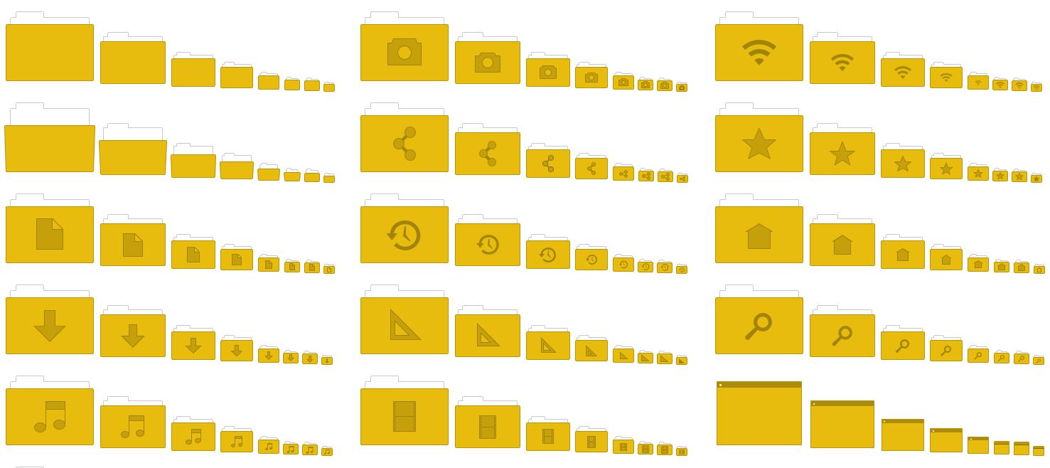 Mint Y Yellow Folders