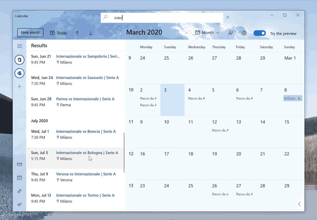Calendar Search Feature 2