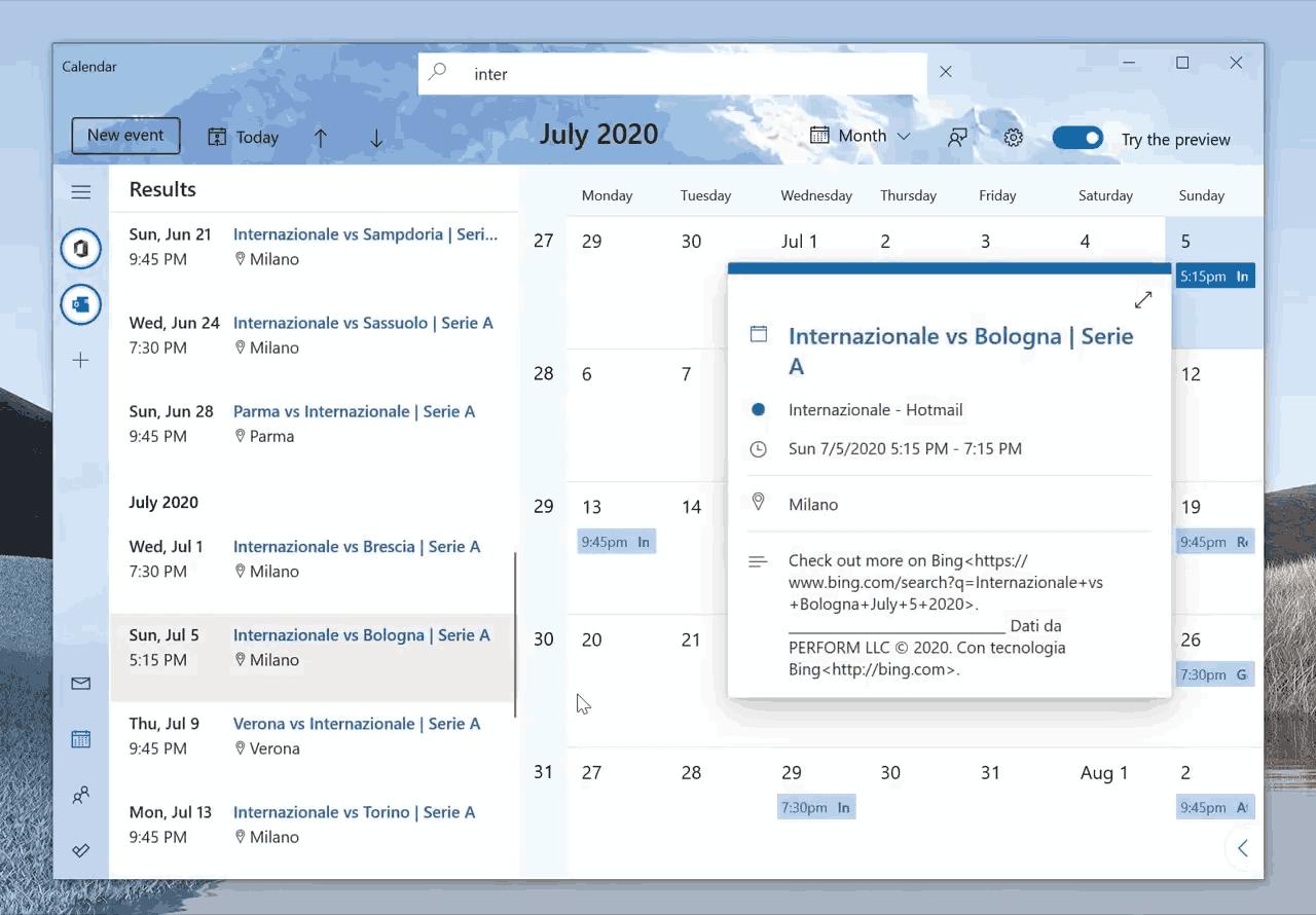 Calendar Search Feature 3