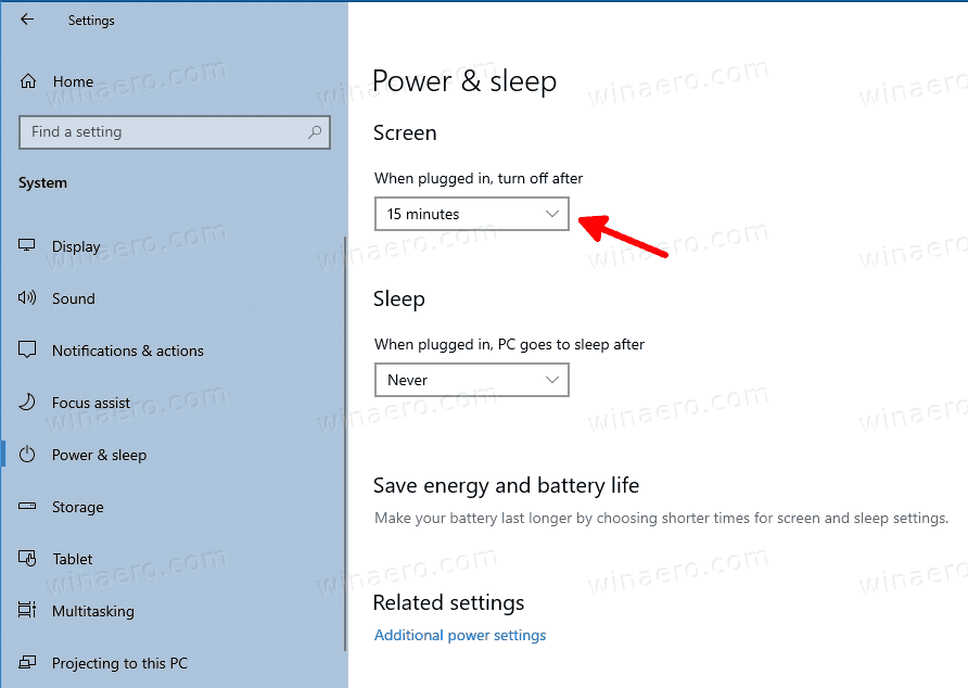 Change Sleep After Time Windows 10