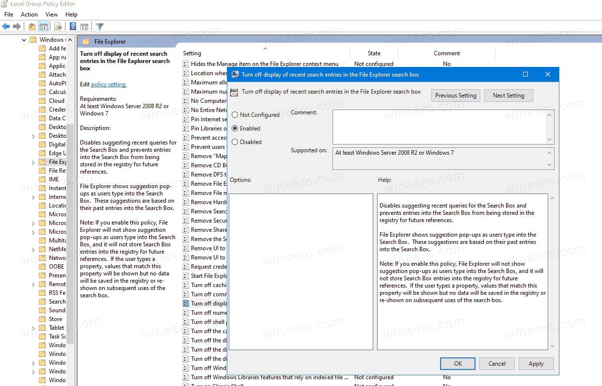 Disable Web Search In Windows 10 Version 2004