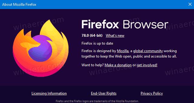 Firefox 78 Logo Banner Version