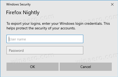 Firefox Triggers Windows Credentials