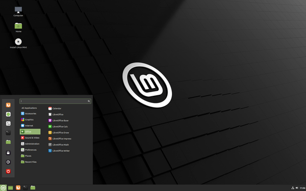 Linux Mint 20 Cinnamon Desktop