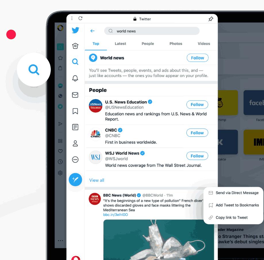 Opera Sidebar Twitter