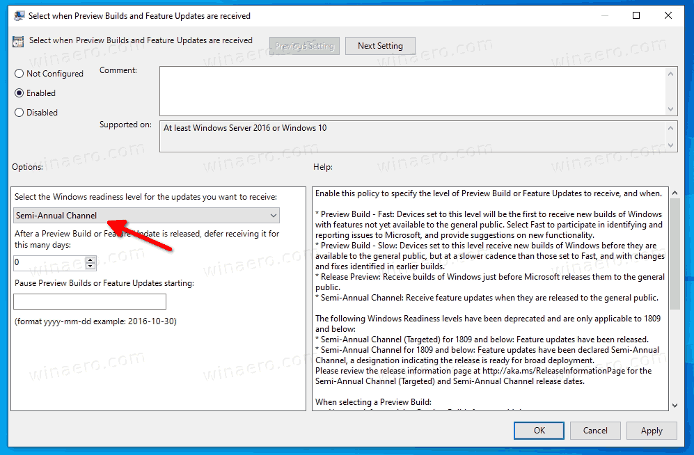 Select The Windows Readiness Level For The Updates You Want To Receive