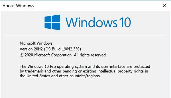 SCCM Windows 10 20H2