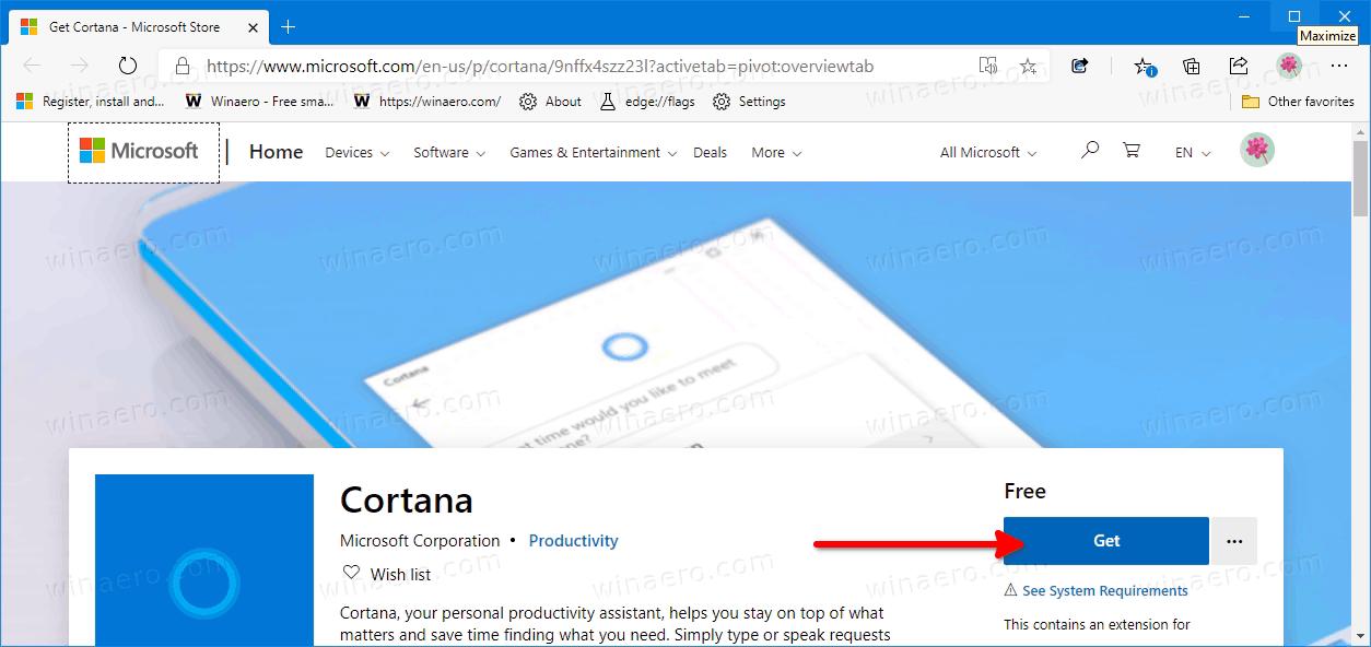 Windows 10 Version 2004 Reinstall Cortana