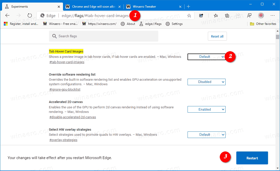 Disable Tab Previews Hover Cards In Microsoft Edge