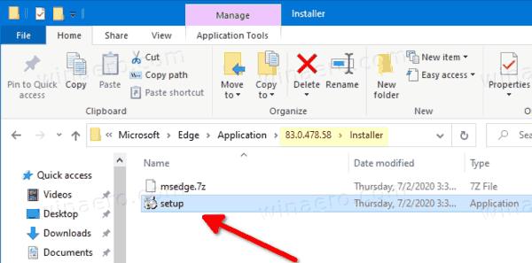 Edge Installer File In File Explorer