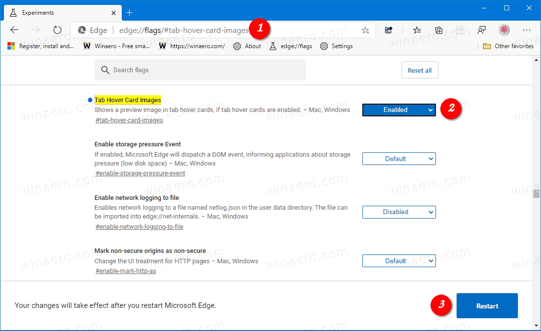 Enable Tab Previews Hover Cards In Microsoft Edge