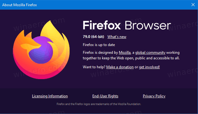 Firefox 79 Version About