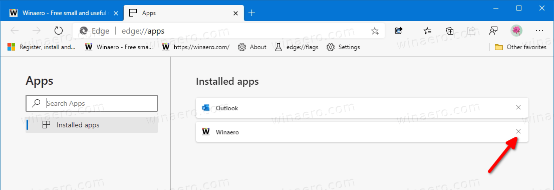 Microsoft Edge Remove Website From Apps And Pins