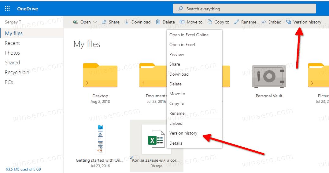 OneDrive Folder In Edge