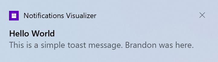 Windows 10 Notification Toast Update 20h2