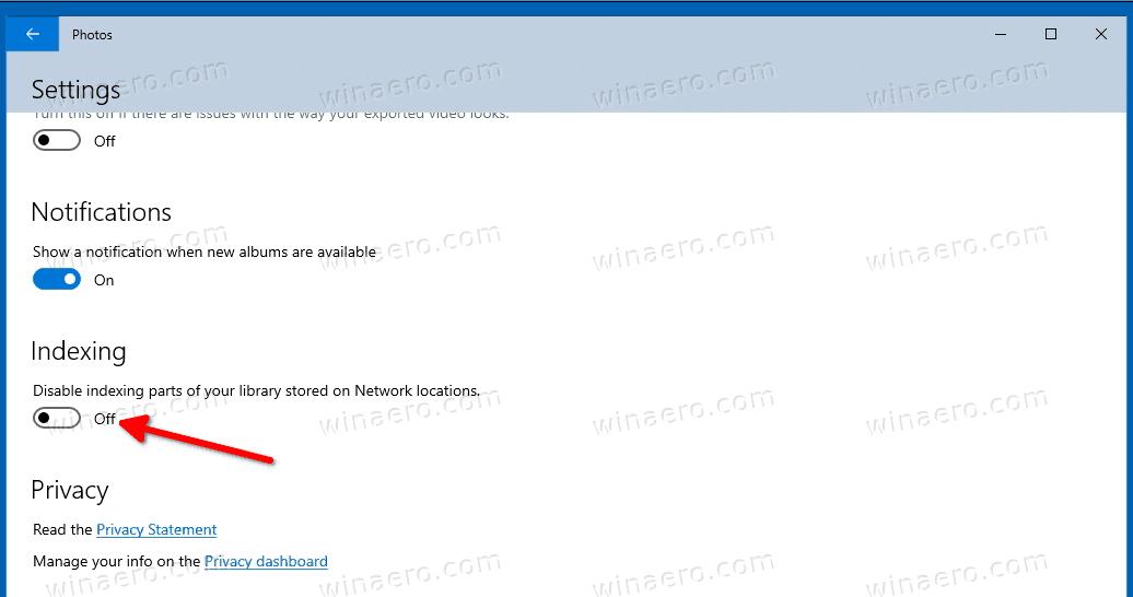 Windows 10 Photos App Indexing