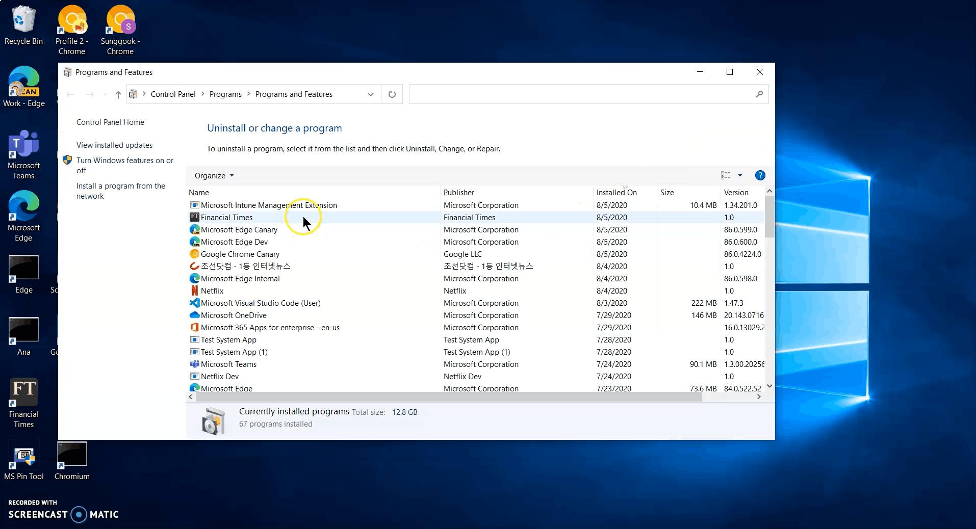 Chrome Uninstall PWA Control Panel 1