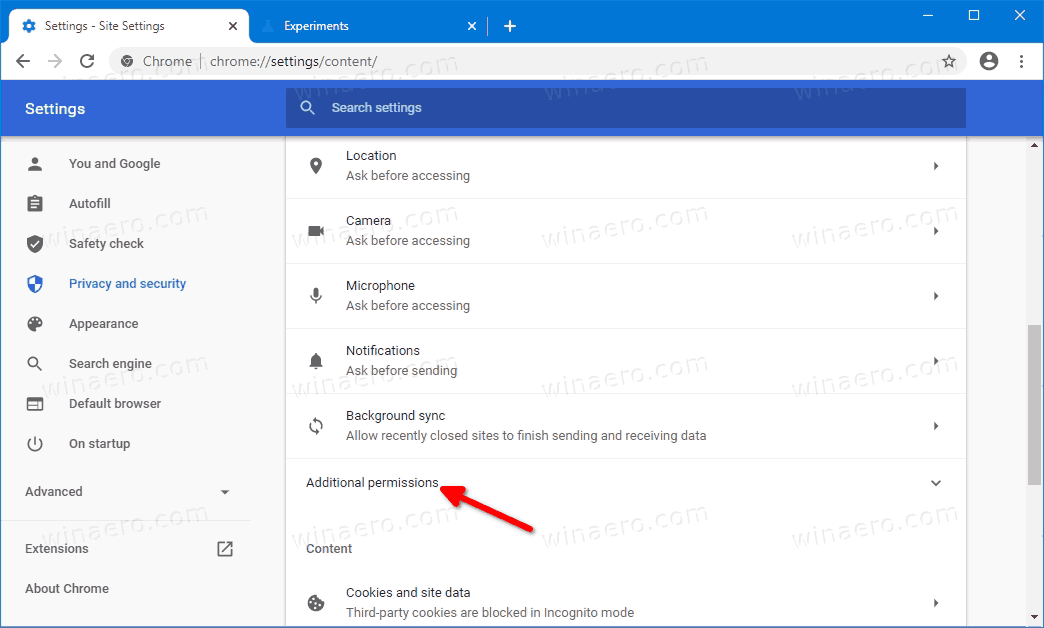 Google Chrome Bluetooth Permissions