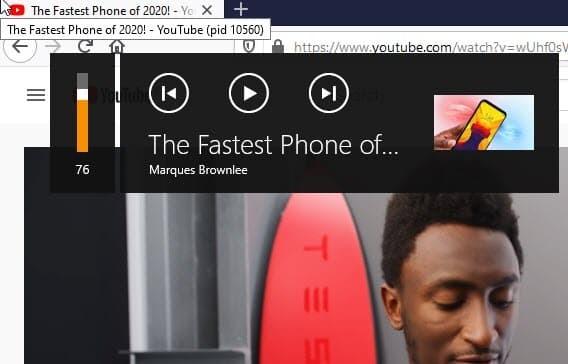 Media Control Feature 1 Firefox