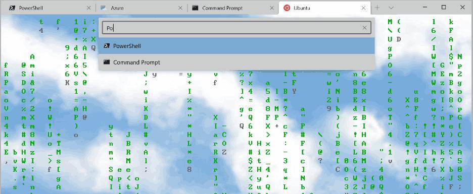 Windows Terminal 1.3 Tab Search