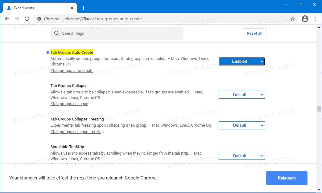 Google Chrome Auto Create Tab Groups