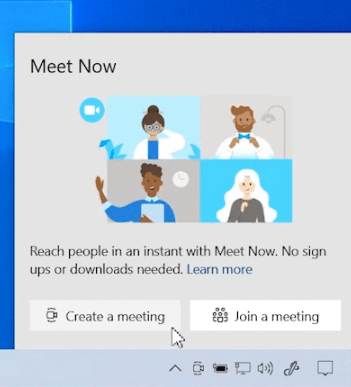 Meet Now In Taskbar 1