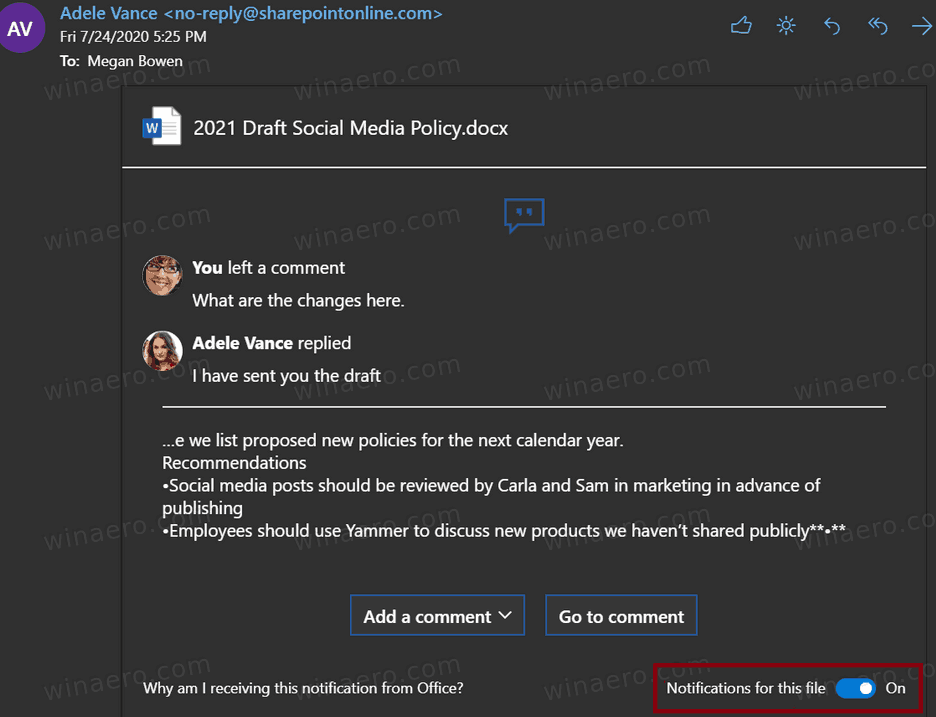 OneDrive Mute Notifications