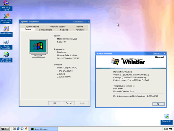 Windows XP Whister Watercolor Theme 2