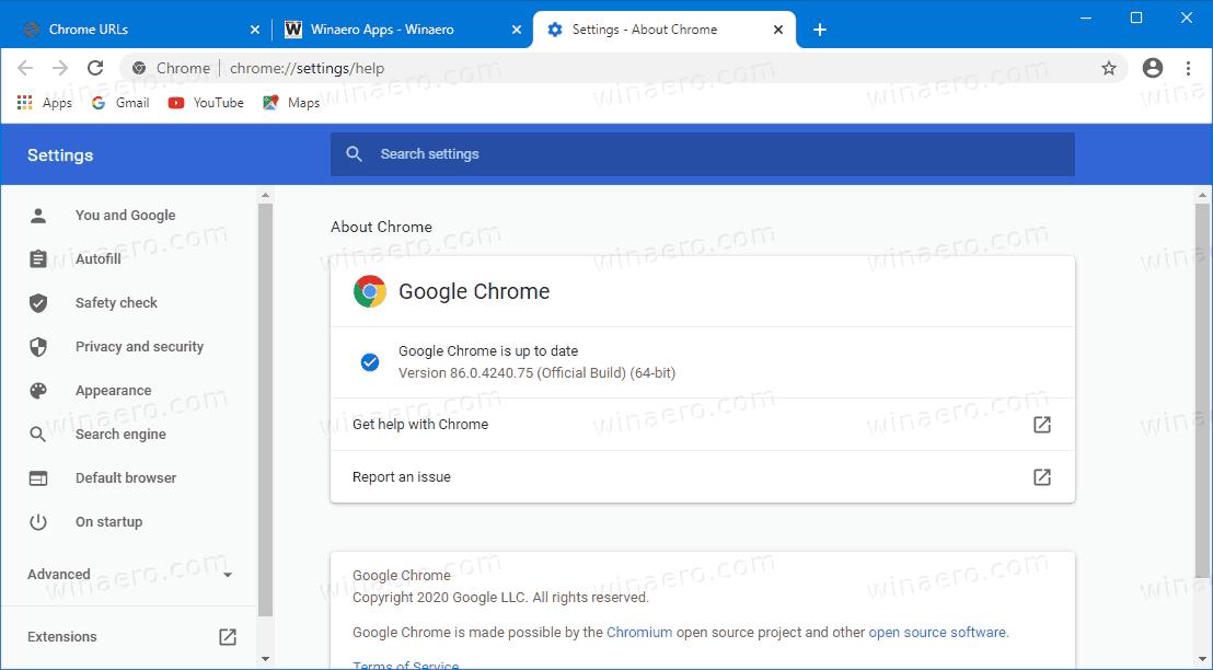 Chrome 86 Version