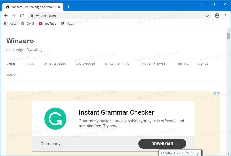 Chrome Open Target Page