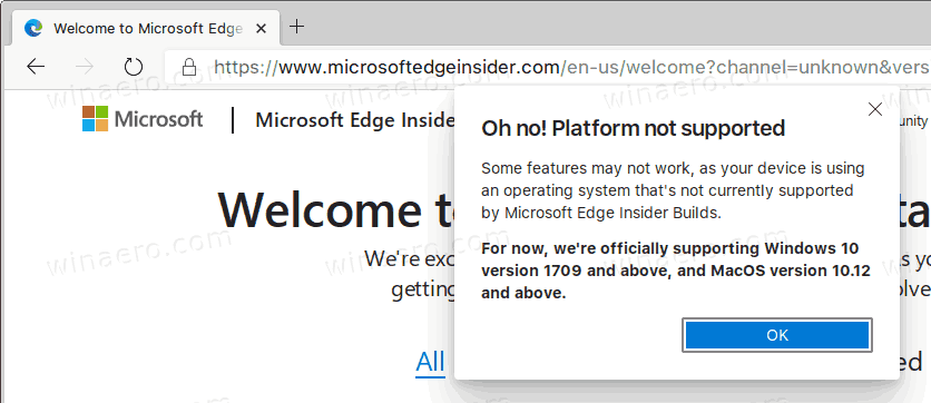Edge Linux No Microsoft Account