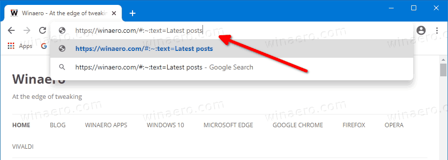 Paste The Final URL Back To Chrome