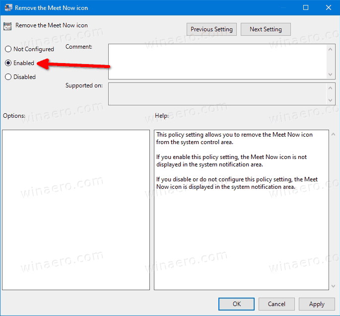 Remove The Meet Now Button With Group Policy
