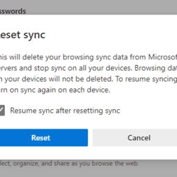Reset Sync in Microsoft Edge and Delete Sync Data