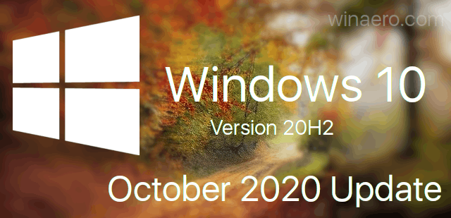 Windows 10 20h2 October Banner