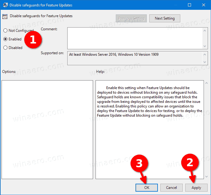 Windows 10 Disable Feature Upgrade Blocks In Group Policy 2