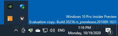 Windows 10 Taskbar Notification Area Tray Icon Flytout Hidden Icons