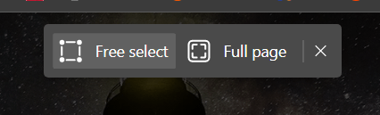 Edge Web Capture Full Screen Page Option