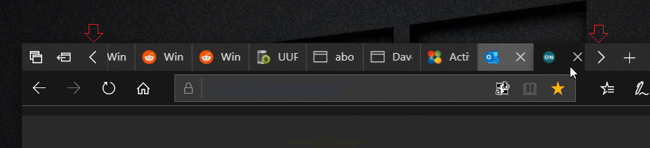 Google Chrome Scrollable Tabstrip With Buttons